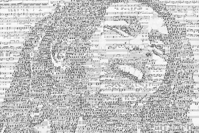 Video: Umjetnik koji od nota izrađuje portrete