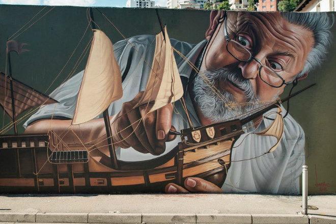 Lonac napravio novi mural, ovog puta u Rijeci
