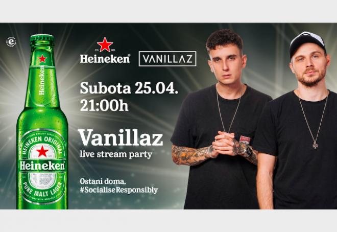 Budi u prvom redu do ekrana na live stream Vanillaz koncertu u tvom dnevnom boravku
