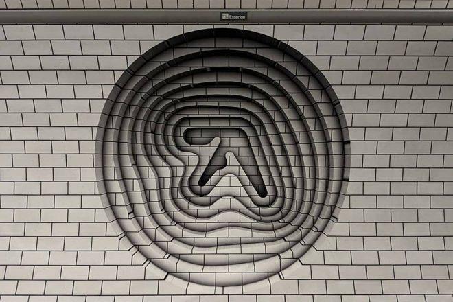 Novi logo Aphex Twina pojavio se na stanici londonske podzemne željeznice