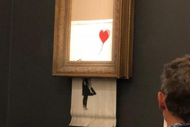 Ikonično Banksyevo umjetničko djelo prodano za preko 1 milijuna eura samouništilo se nakon prodaje