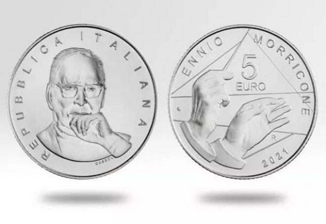 Ennio Morricone na kovanici od 5 eura