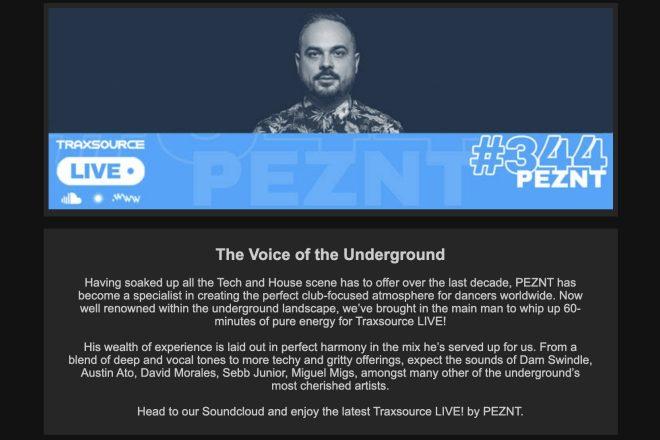 Traxsource LIVE! #344: PEZNT