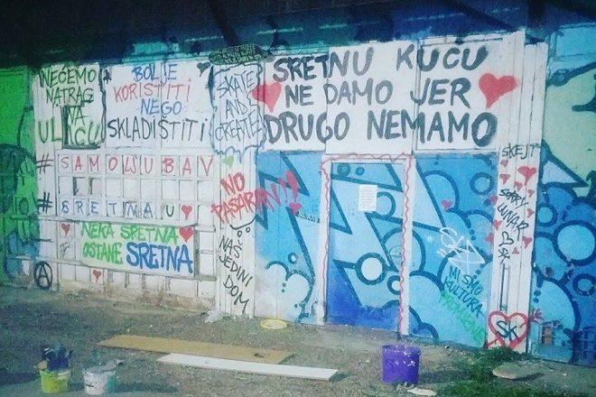Zagrebački skejteri ostali bez prostora Sretna kuća, jedinog natkrivenog koji imaju
