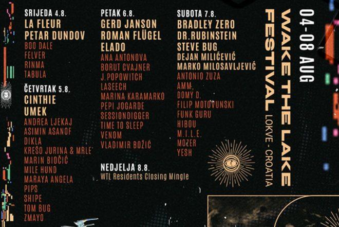 U srijedu kreće drugi Wake The Lake festival